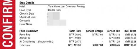 Tune Hotel Price