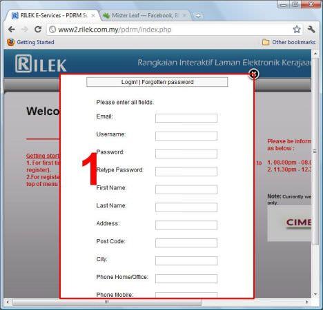 rilek register