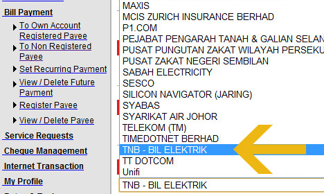 How To Pay Tnb Electric Bill Online Using Credit Card