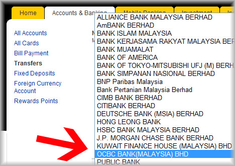 Maybank to ocbc