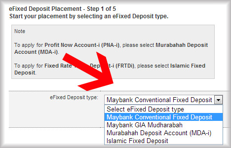 maybank efixed deposit