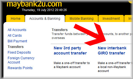 Maybank Transfer Public Bank