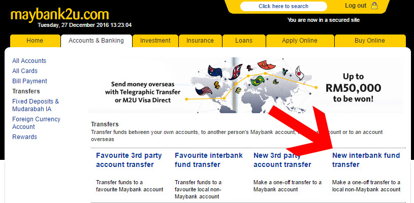 maybank interbank fund transfer
