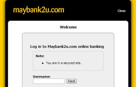 Maybank2upay login