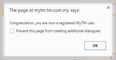 TMOnline Register Step 3