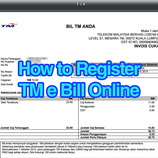 How to register and view TM e Bill Online? | MisterLeaf