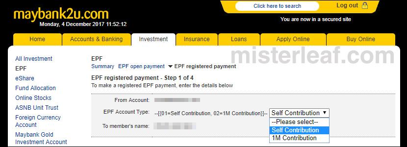 Maybank To EPF