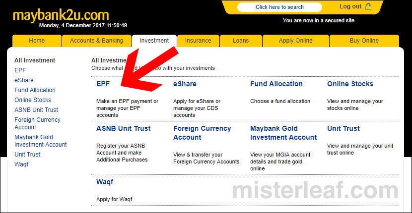Maybank To EPF