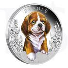 Puppies Silver Coin