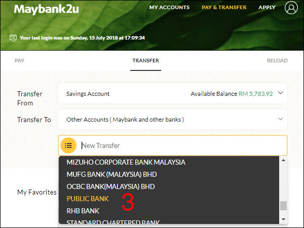 Maybank To Public Bank Step 3