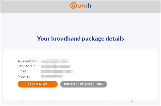 Unifi Package Details