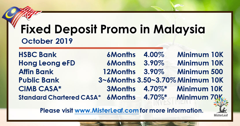 October Best Fixed Deposits Promotions In Malaysia Misterleaf